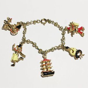 Child's Charm Bracelet w Chinese-style figures
